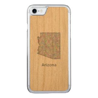 Arizona map carved iPhone 8/7 case