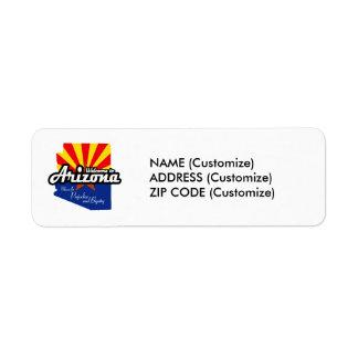 "Arizona - ""Mecca for Prejudice and Bigotry"" Return Address Label"