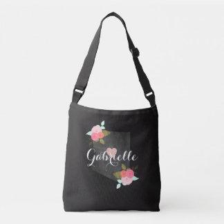Arizona Monogram State Watercolor Floral & Heart Crossbody Bag