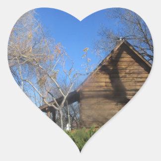 Arizona Mormon Cabin Heart Sticker