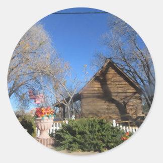 Arizona Mormon Cabin Sticker