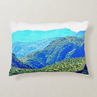 Arizona Mountains In Blue Pillow