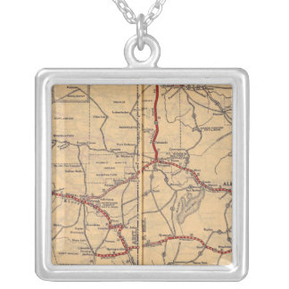 Arizona, New Mexico Silver Plated Necklace