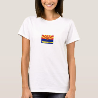 Arizona Old Timers Flag Logo On Yellow Baby Doll T-Shirt