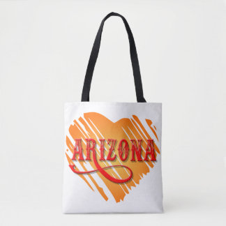 Arizona Orange Heart Cross Over Bag