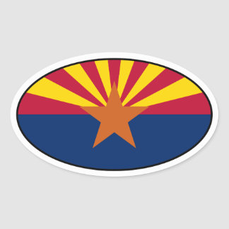 Arizona Oval Flag Sticker