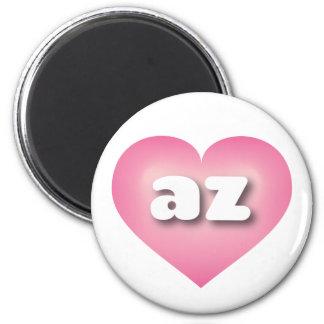 Arizona pink fade heart - mini love 6 cm round magnet