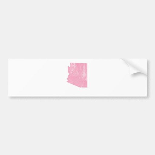 Arizona Pink Vintage Grunge Bumper Stickers
