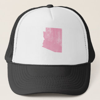 Arizona Pink Vintage Grunge Trucker Hat