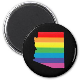 arizona pride. 6 cm round magnet