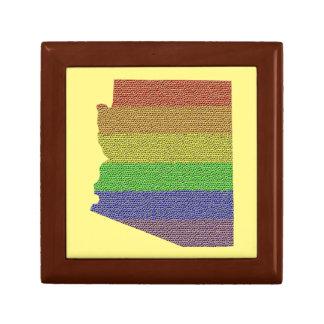 Arizona Rainbow Pride Flag Mosaic Gift Box