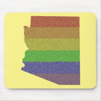 Arizona Rainbow Pride Flag Mosaic Mouse Pad