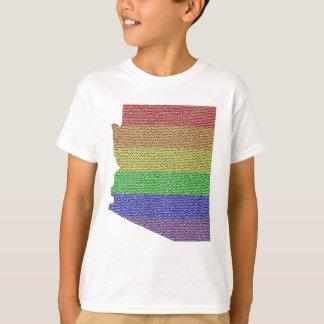 Arizona Rainbow Pride Flag Mosaic Shirts