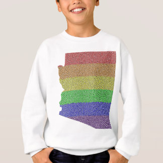 Arizona Rainbow Pride Flag Mosaic Sweatshirt