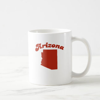 ARIZONA Red State Basic White Mug