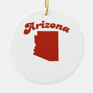 ARIZONA Red State Christmas Ornament