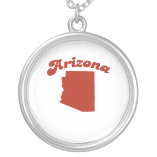 ARIZONA Red State Round Pendant Necklace