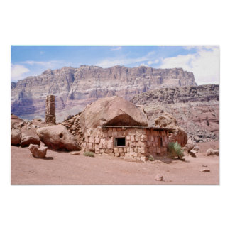 Arizona Rock House Marble Canyon Balancing Rocks Poster
