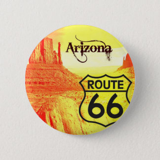 Arizona Route 66 6 Cm Round Badge
