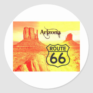Arizona Route 66 Classic Round Sticker