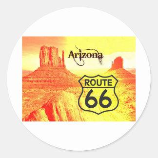 Arizona Route 66 Round Sticker