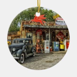 Arizona Route 66 rustic retro store Christmas Ornament