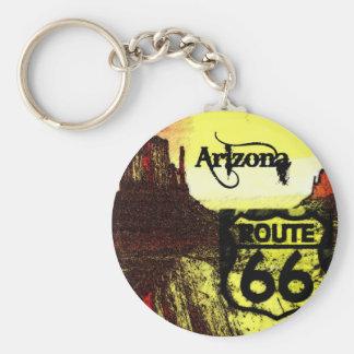 Arizona Route 66 Western Key Ring