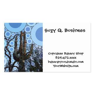 Arizona Saguaro Cactus Concentric Circle Mosaic Pack Of Standard Business Cards