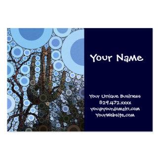 Arizona Saguaro Cactus Concentric Circle Mosaic Pack Of Chubby Business Cards