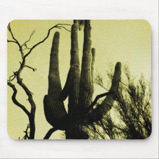 Arizona Saguaro Cactus Distressed Edition Mousepads