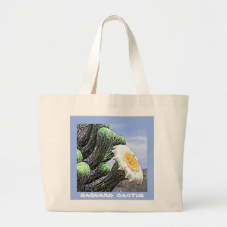 Arizona Saguaro Cactus Large Tote Bag