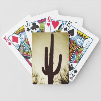 Arizona Saguaro Cactus Silhouette Bicycle Playing  Bicycle Playing Cards