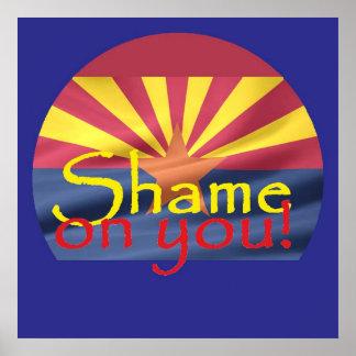 Arizona SHAME ON YOU POSTER Print