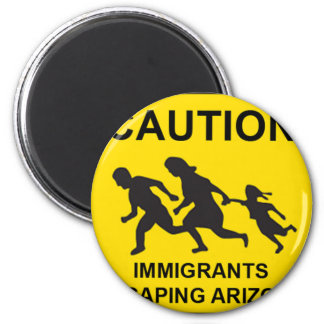 Arizona sign 6 cm round magnet