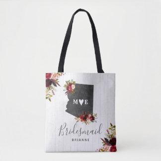 Arizona State Destination Rustic Wedding Monogram Tote Bag