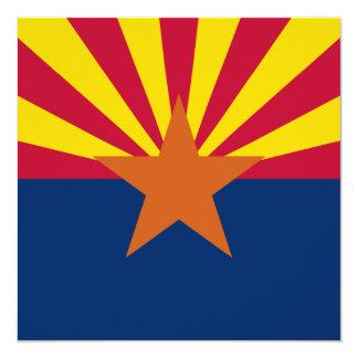 Arizona State Flag 13 Cm X 13 Cm Square Invitation Card