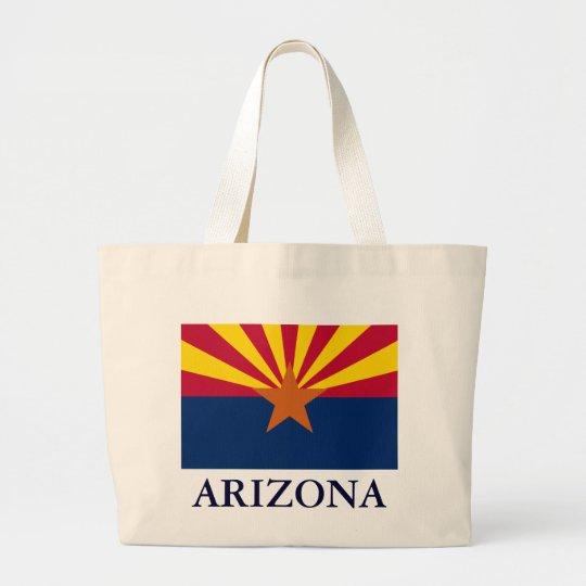 Arizona State Flag Canvas Tote Bag