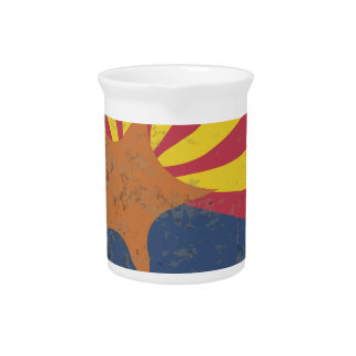 Arizona State Flag Grunge Beverage Pitcher