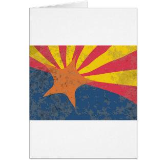 Arizona State Flag Grunge Card