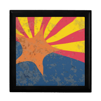 Arizona State Flag Grunge Gift Box