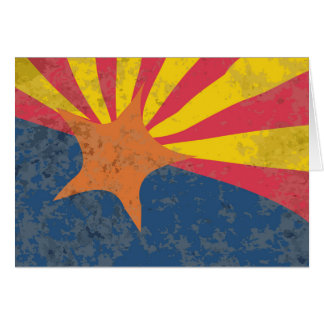 Arizona State Flag Grunge Greeting Card