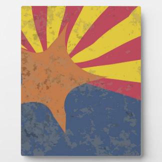 Arizona State Flag Grunge Photo Plaques