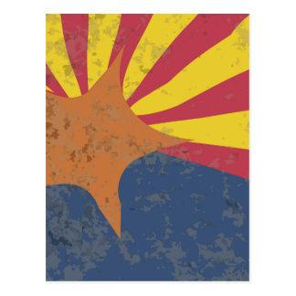 Arizona State Flag Grunge Postcard