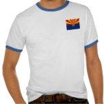 Arizona State Flag Mens Ringer T-shirt