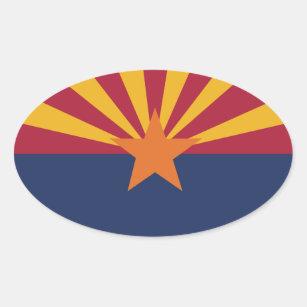 Arizona State Flag Oval Sticker