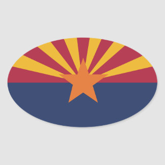 Arizona State Flag Oval Sticker