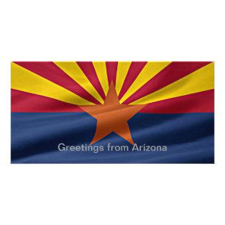 Arizona State Flag Personalized Photo Card