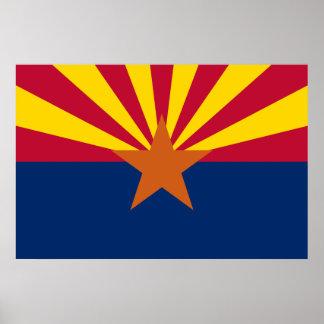 Arizona State Flag Print Poster