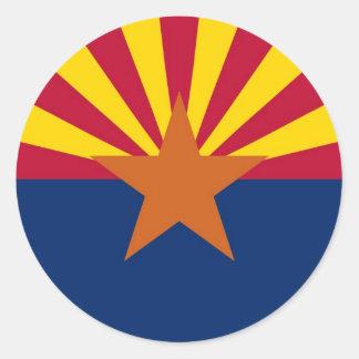 Arizona State Flag Round Stickers