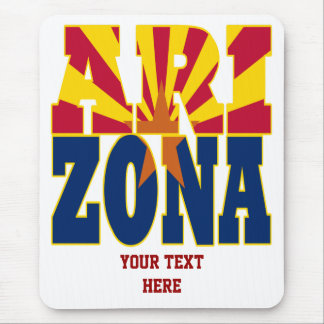 Arizona state flag text mouse mat